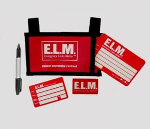 emergency links matter car visor id