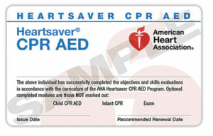 CPR certification CPR classes